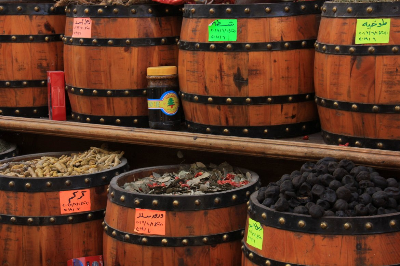 You can buy spices at khan el khalili