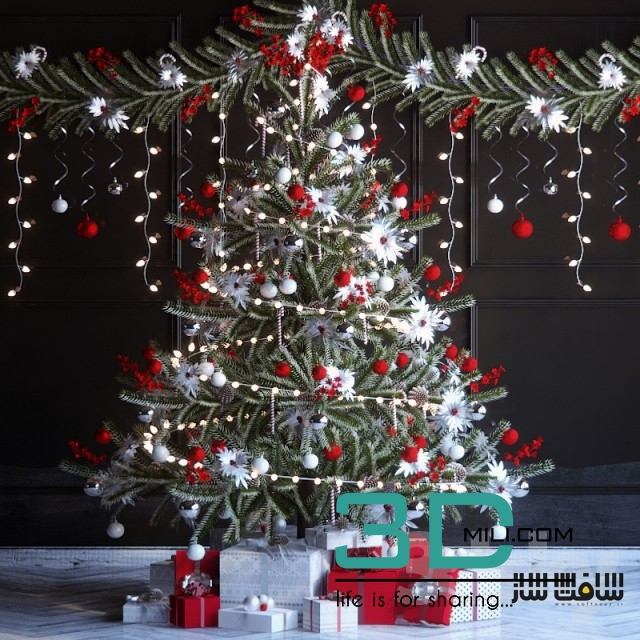 97 Christmas trees - 3D Mili - Download 3D Model - Free 3D Models