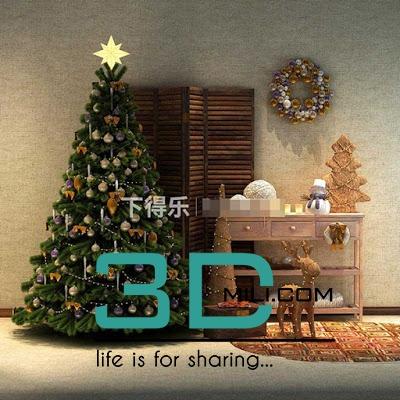 85 Christmas tree - 3D Mili - Download 3D Model - Free 3D Models
