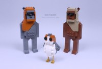 A LEGO Porg From Star Wars: The Last Jedi
