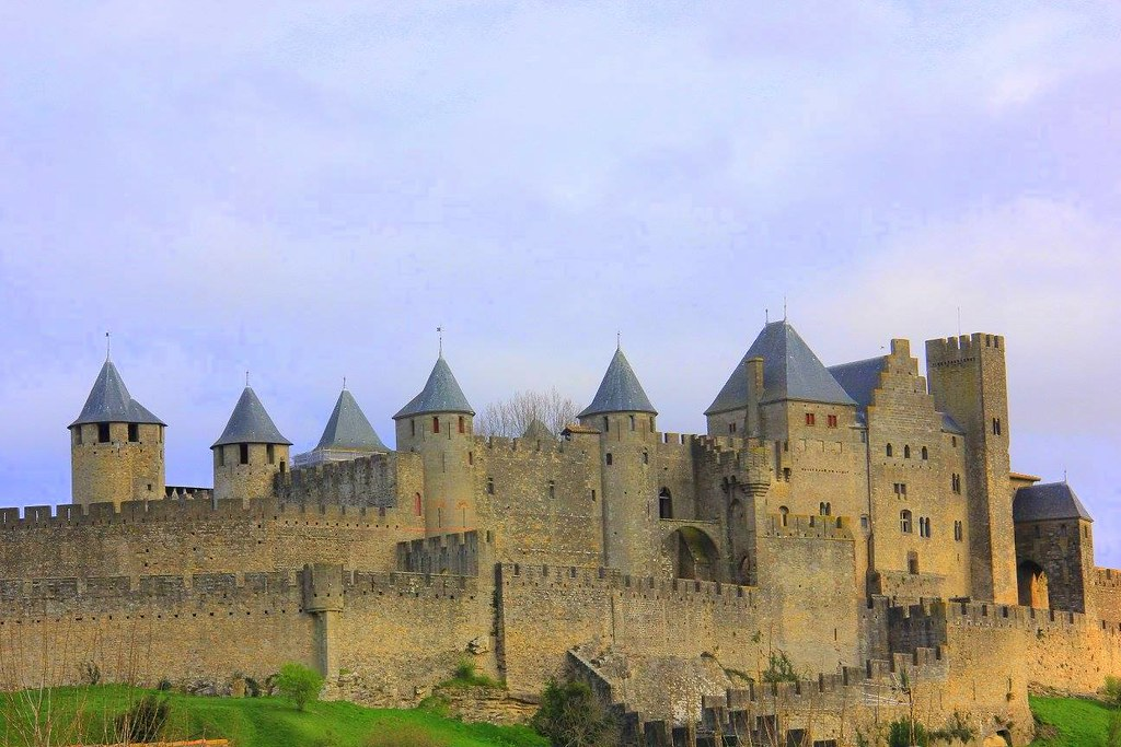 The hilltop Carcassonne fortified town