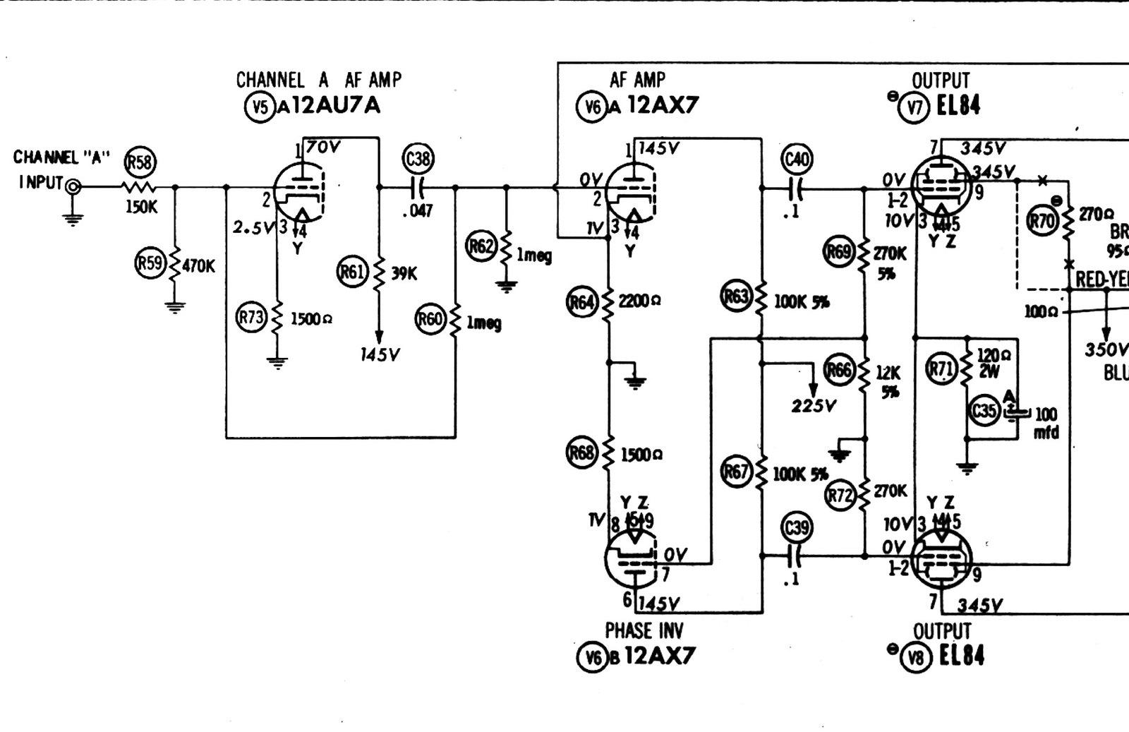 12au7 Preamp Schematic
