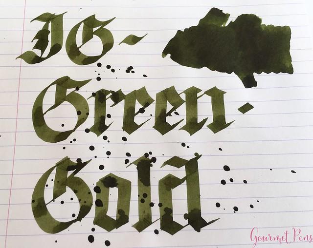 Gourmet Pens Ink Shot Review Kwzi Ig Green Gold