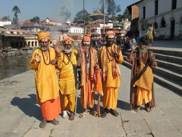Holy Men -  Pashupatinath Temple - Kathmandu