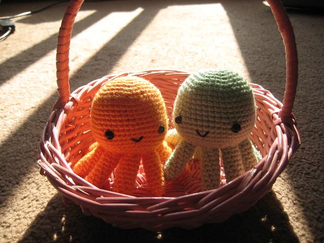 Easter octopus pair