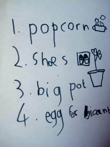 literacy ideas shopping lists - shopping lists