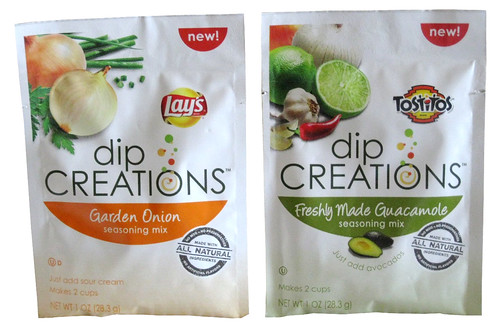 Lay's Dip Creations Garden Onion and Tostitos Dip Creations Freshly Made Guacamole Seasoning Mixes
