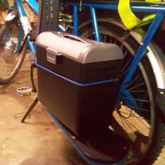 DIY electric Yuba Mundo battery box: side view