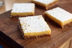 lemon bars (gingersnap crust)