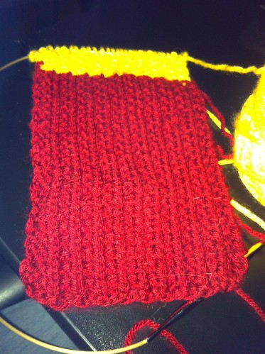 New knitting project - Gryffindor scarf