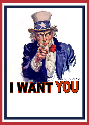 Uncle Sam I Want You - Poster by DonkeyHotey, on Flickr