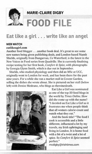 A little piece in The Irish Times :)