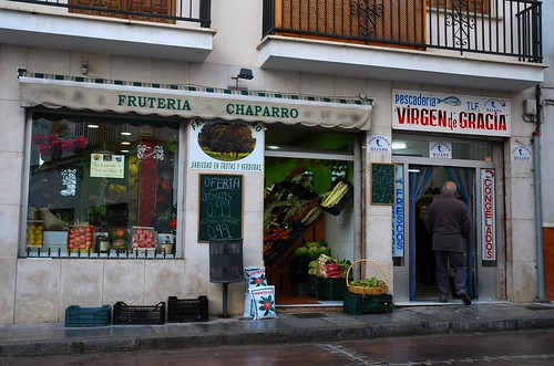 Small vegetable and fish shops