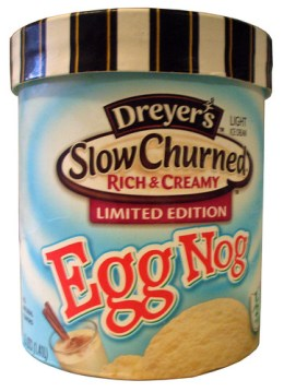 Dreyer's Slow Churned Limited Edition Egg Nog Ice Cream