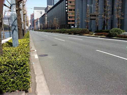 Empty streets near Tokyo Station