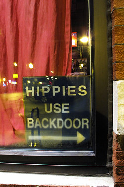 Hippies use back door
