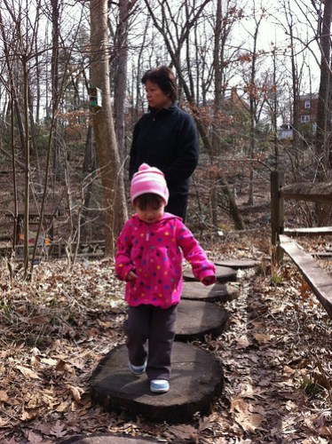 Chloe & Grandma, at the Nature Center