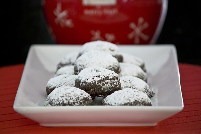 Chocolate Crunch Snowball Cookies
