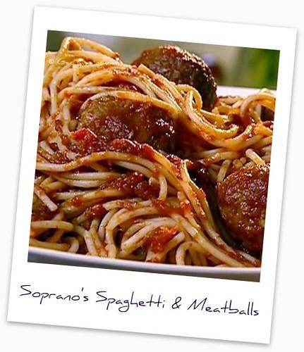 Soprano's spaghetti with meatballs