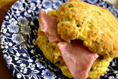 Cheddar, Bacon and Fresh Chive Biscuits