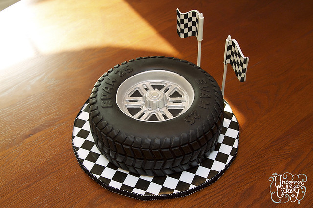 """Tire Cake"" Birthday Cake"