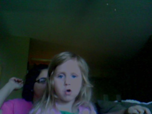 Cara and the webcam
