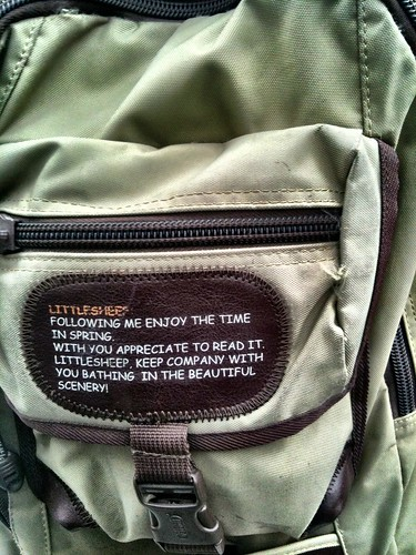Engrish Bookbag (closeup)