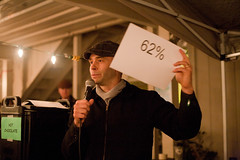Matt Martin, Executive Director of SAY speaks at the Beat the Cold BBQ