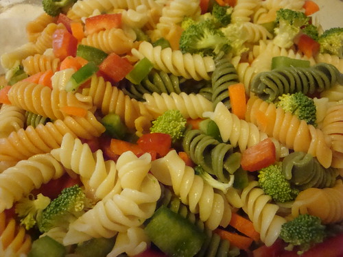 Noodles and veggies