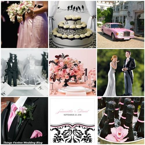 Pink, Black  White Wedding Color Palette Things Festive Weddings