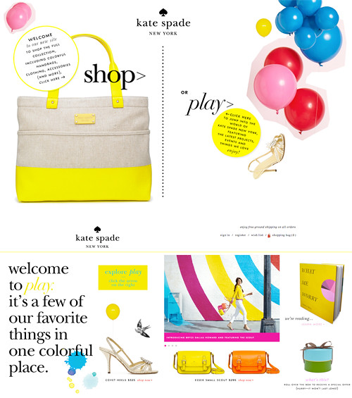 NEW Kate Spade website