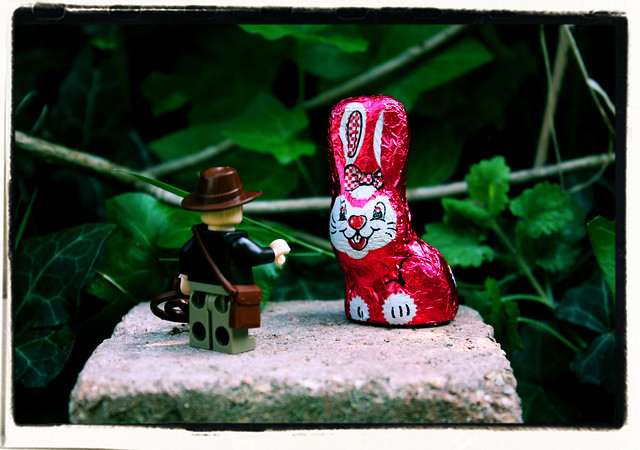 Indiana Jones and the Metal Pink Easter Bunny