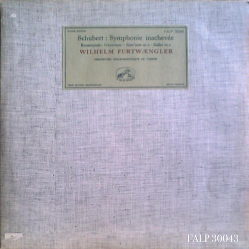 アマデウスクラシックス通販レコードの案内 - シューベルト:交響曲No.8《未完成》、《ロザムンデ》序曲、バレエ音楽No.2 フルトヴェングラー指揮ウィーン・フィル