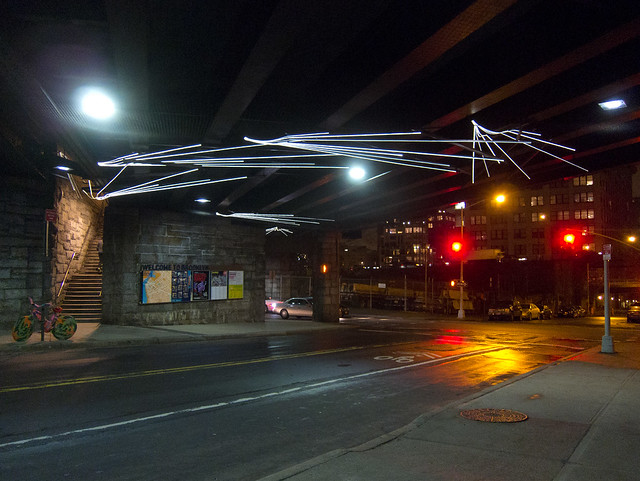 Lights Under The Brooklyn Bridge