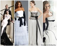 Black and White Wedding Dresses - The Right Kind of Drama ...