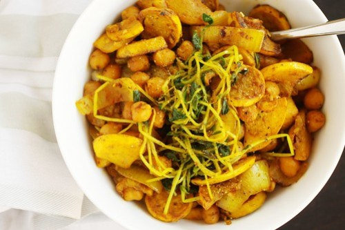 spiced veggies with millet