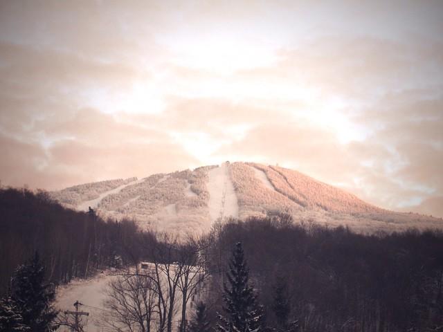 Snowboarding Mount Pico in Vermont