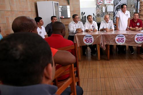 Café da manhã com lideranças do PT do B, PTN, e PRB.