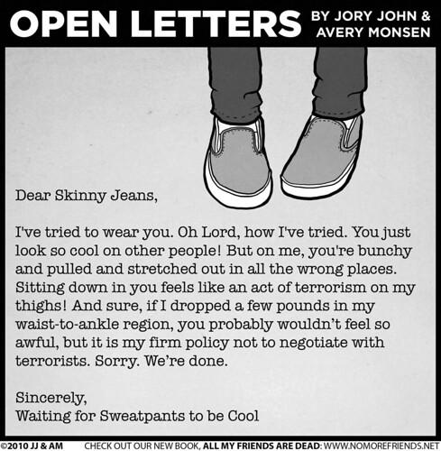 Open Letters Dear Skinny Jeans Columns San Antonio San