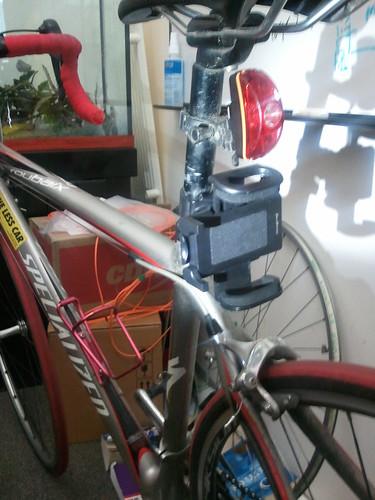 Phone mount on seatpost