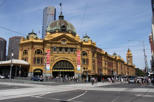 Cliché photo of Flinders Street Station