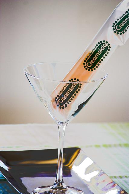 Creamsicle in a Martini Glass