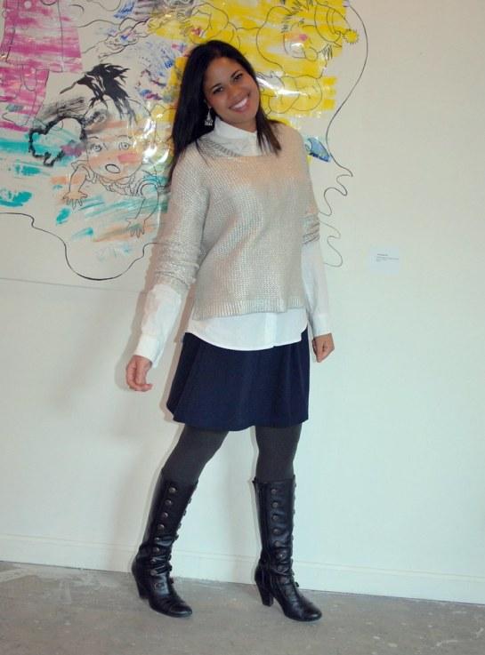 h&m silver sweater