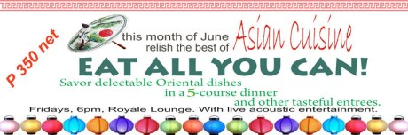 The Royal Lounge Gensan June 2011 Eat All You Can Promo