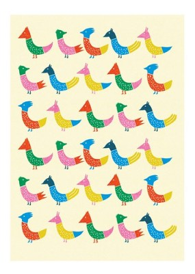 peacock and friends print etsy