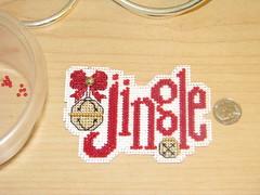 Finished Mill Hill Jingle Ornament Cross Stitch Kit