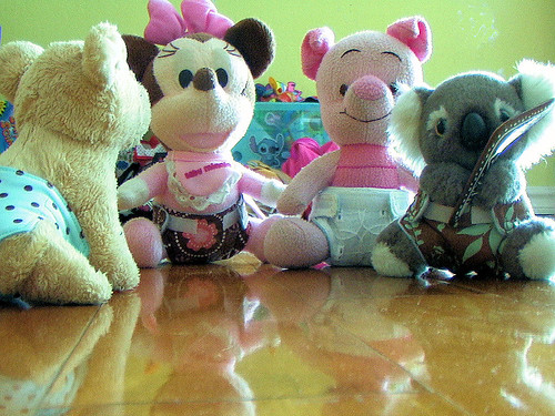 Teeny Teddies and their teeny nappies!