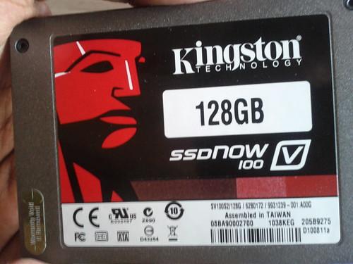 Kingston v100 SSD front side