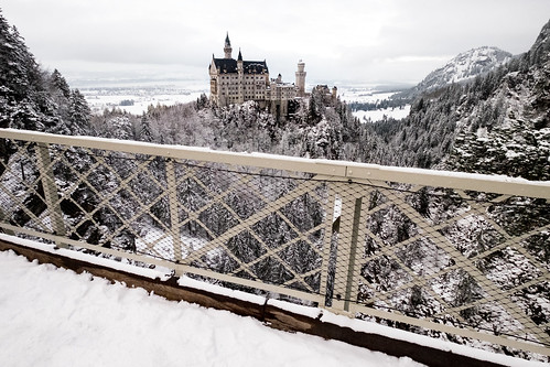 Neuschwanstein Castle seen from Marienbrücke