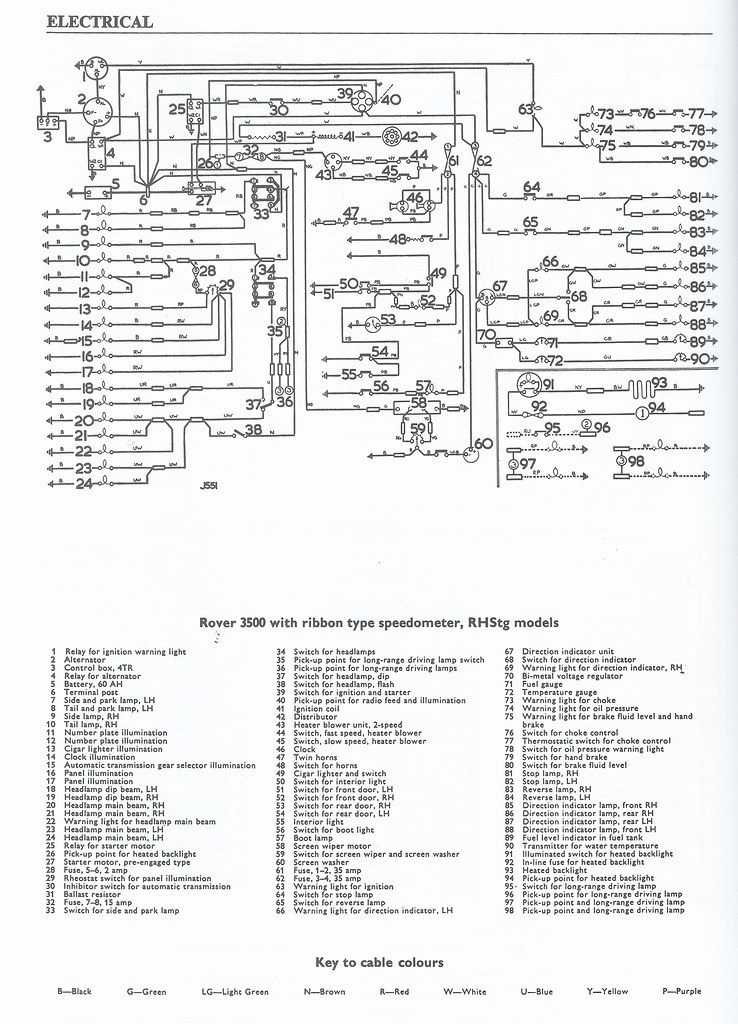 rover p6 wiring diagram